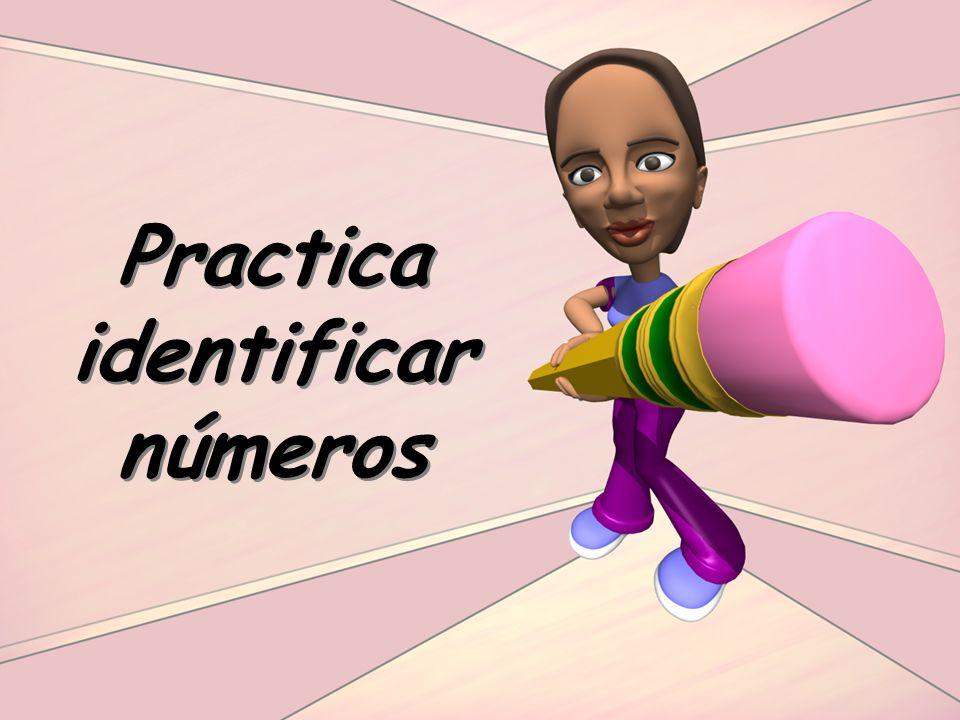Practica identificar números