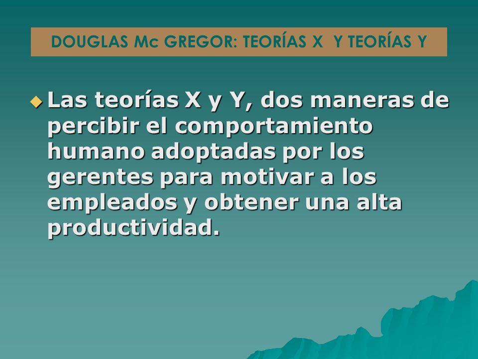 Las teorías X y Y, dos maneras de percibir el comportamiento humano adoptadas por los gerentes para motivar a los empleados y obtener una alta productividad.