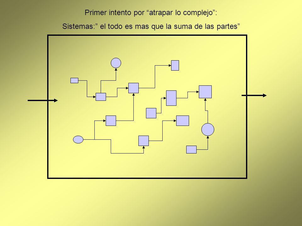Primer intento por atrapar lo complejo: Sistemas: el todo es mas que la suma de las partes