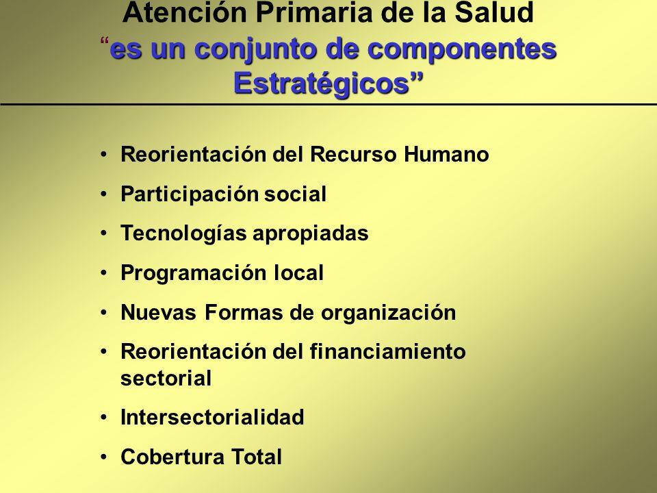 es un conjunto de componentes Estratégicos Atención Primaria de la Saludes un conjunto de componentes Estratégicos Reorientación del Recurso Humano Pa