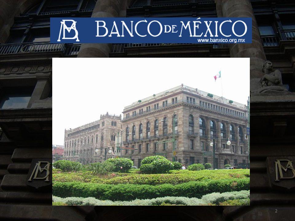 3 Índice El Banco de México Antecedentes Históricos del Banco de México.