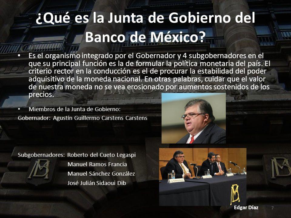 8 Misión y Visión del Banco de México: Misión: El Banco de México tiene el objetivo prioritario de preservar el valor de la moneda nacional a lo largo del tiempo y, de esta forma, contribuir a mejorar el bienestar económico de los mexicanos.