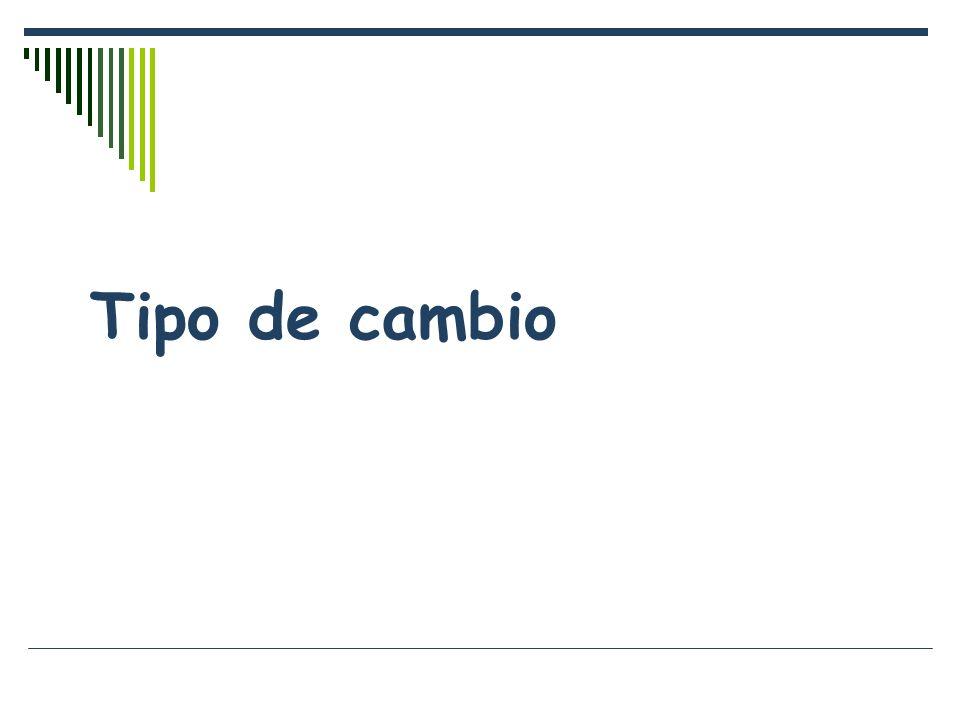 Calcula T.C., incremento absoluto y relativo ProductoQPrecio USD EU Precio Peso Mex PQ EU PQ Mex Azúcar51.10105.5050 Huevo10.60156.00150 Leche20.801016.00200 Suma27.50400