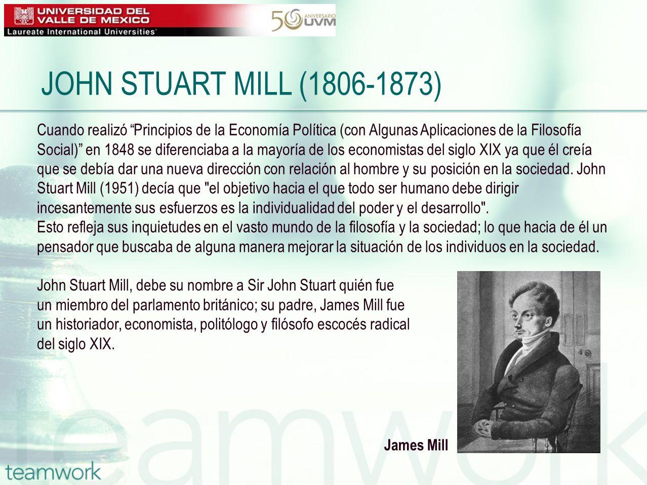 Cuando realizó Principios de la Economía Política (con Algunas Aplicaciones de la Filosofía Social) en 1848 se diferenciaba a la mayoría de los econom
