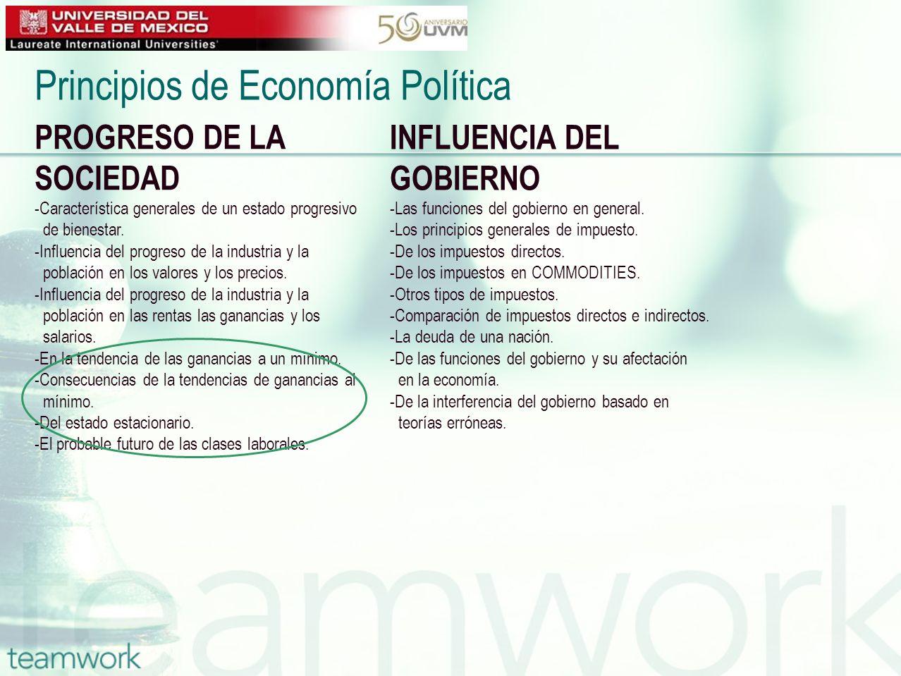 PROGRESO DE LA SOCIEDAD -Característica generales de un estado progresivo de bienestar. -Influencia del progreso de la industria y la población en los