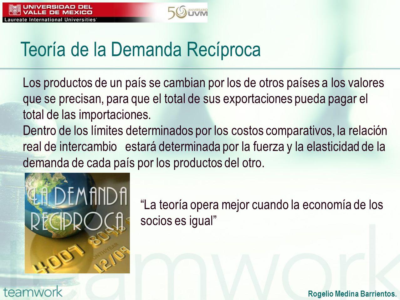 Rogelio Medina Barrientos. Los productos de un país se cambian por los de otros países a los valores que se precisan, para que el total de sus exporta