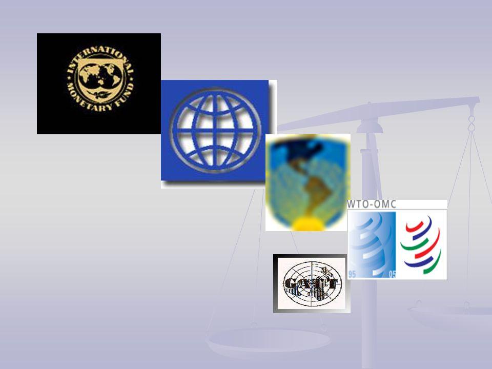 5.1 Fondo Monetario Internacional International Monetary Found Organización integrada por 184 países, que trabaja para promover la cooperación monetaria mundial, asegurar la estabilidad financiera, facilitar el comercio internacional, promover un alto nivel de empleo y crecimiento económico sustentable y reducir la pobreza.