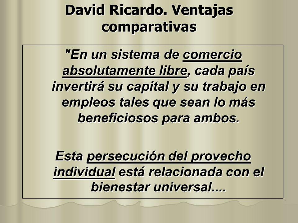 David Ricardo. Ventajas comparativas