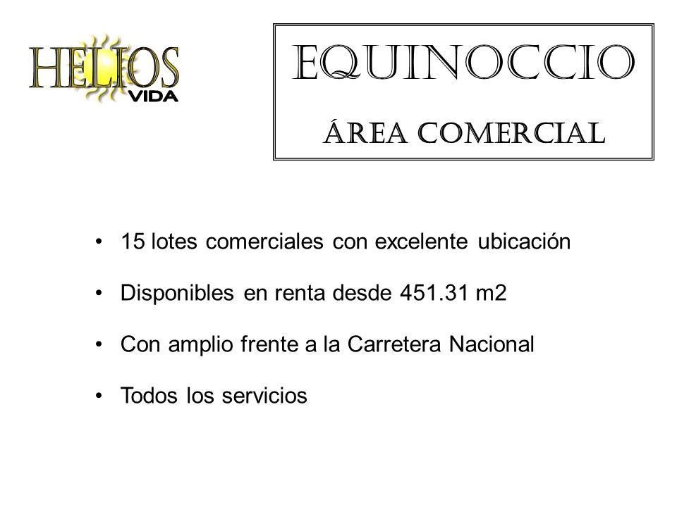 Equinoccio Área comercial 15 lotes comerciales con excelente ubicación Disponibles en renta desde 451.31 m2 Con amplio frente a la Carretera Nacional