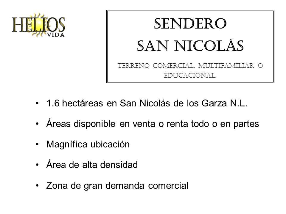 Sendero san Nicolás Terreno comercial, multifamiliar o educacional.