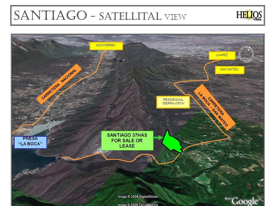 CARRETERA NACIONAL SANTIAGO 37HAS FOR SALE OR LEASE PRESA LA BOCA RESIDENCIAL SIERRA VISTA SAN MATEO CARRETERA LA BOCA – SAN MATEO MONTERREY JUAREZ Santiago - Satellital VIEW
