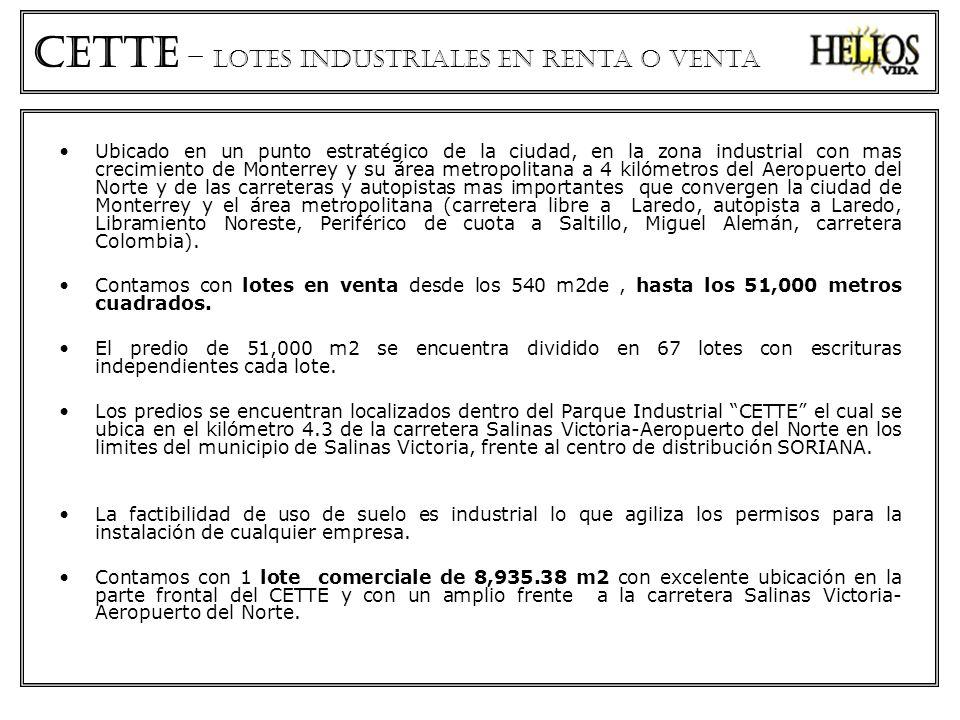 Ubicado en un punto estratégico de la ciudad, en la zona industrial con mas crecimiento de Monterrey y su área metropolitana a 4 kilómetros del Aeropu