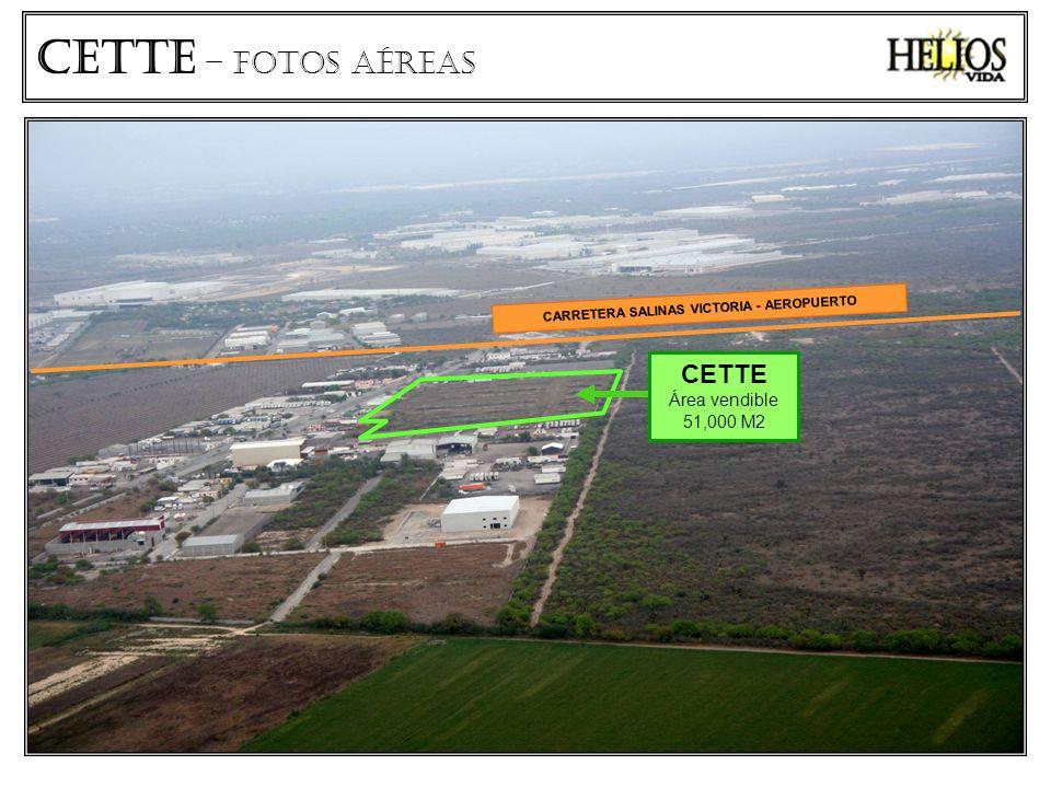CETTe – fotos aéreas CARRETERA SALINAS VICTORIA - AEROPUERTO CETTE Área vendible 51,000 M2