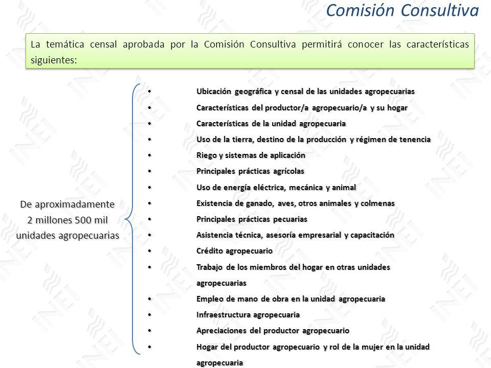 De aproximadamente 2 millones 500 mil unidades agropecuarias Ubicación geográfica y censal de las unidades agropecuariasUbicación geográfica y censal