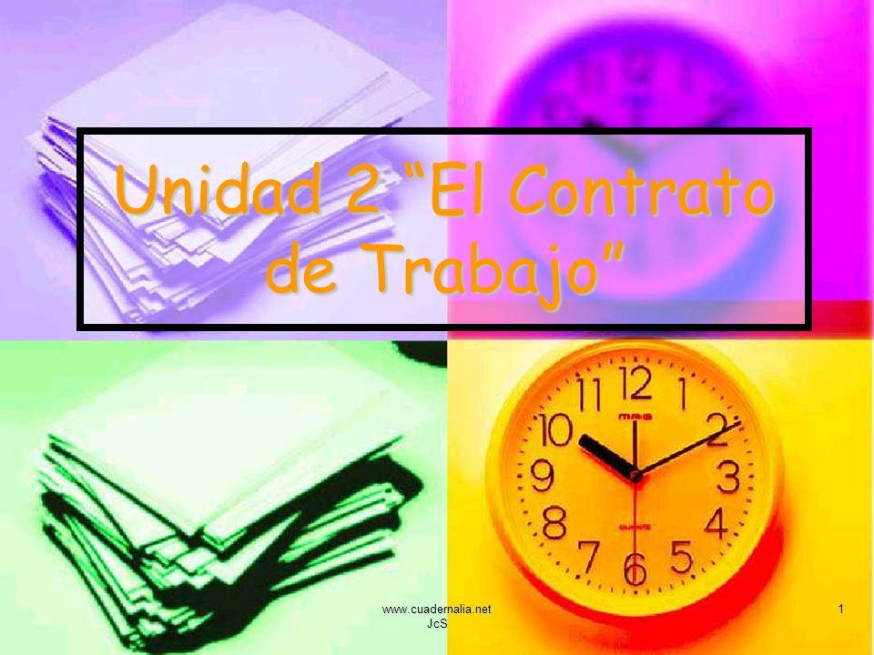 www.cuadernalia.net JcS 1 Unidad 2 El Contrato de Trabajo