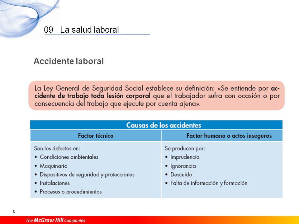09 La salud laboral 6 Accidente laboral