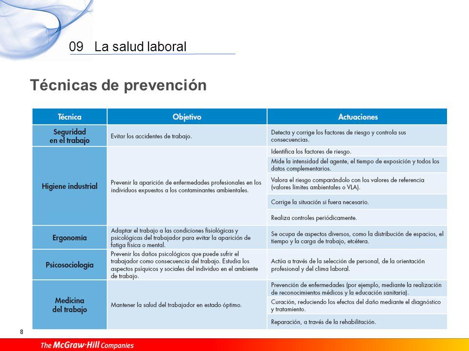 09 La salud laboral 7 Enfermedad profesional