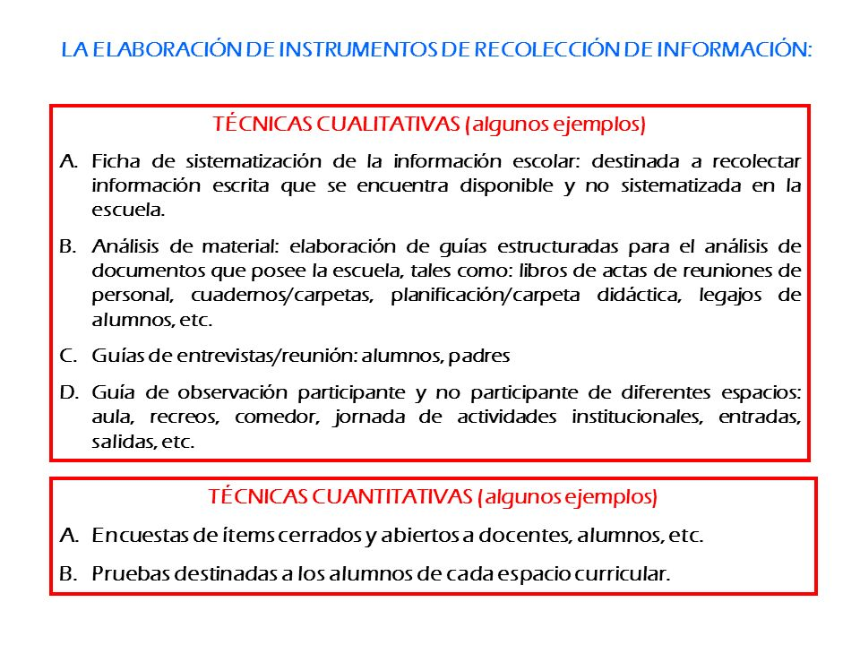 LA ELABORACIÓN DE INSTRUMENTOS DE RECOLECCIÓN DE INFORMACIÓN: TÉCNICAS CUALITATIVAS (algunos ejemplos) A.Ficha de sistematización de la información es
