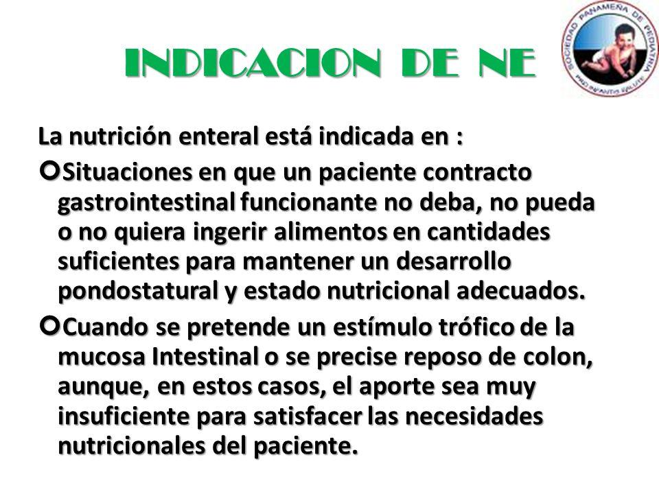 ENFERMEDADES DONDE SE INDICA NUTRICION ENTERAL