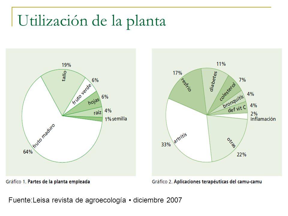 Utilización de la planta Fuente:Leisa revista de agroecología diciembre 2007