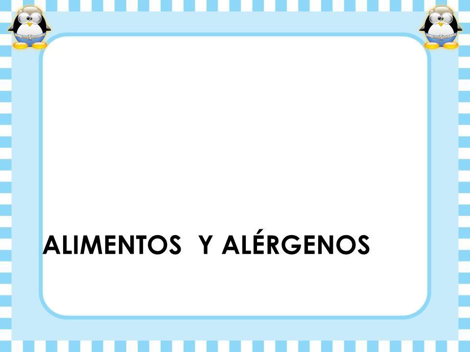 ALIMENTOS Y ALÉRGENOS