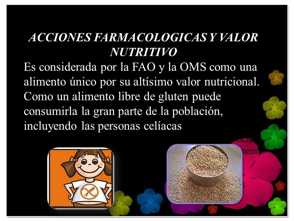 Es también fuente de proteínas, minerales, y vitaminas Complejo B Acido fólico, Niacina, Calcio, Fierro y Fósforo.