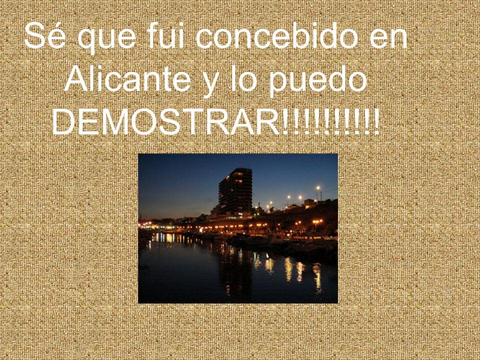 Sé que fui concebido en Alicante y lo puedo DEMOSTRAR!!!!!!!!!!
