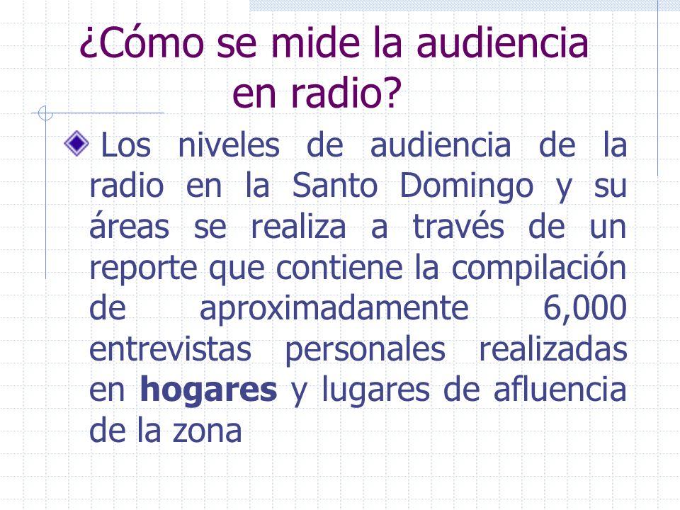 ¿Cómo se mide la audiencia en radio.