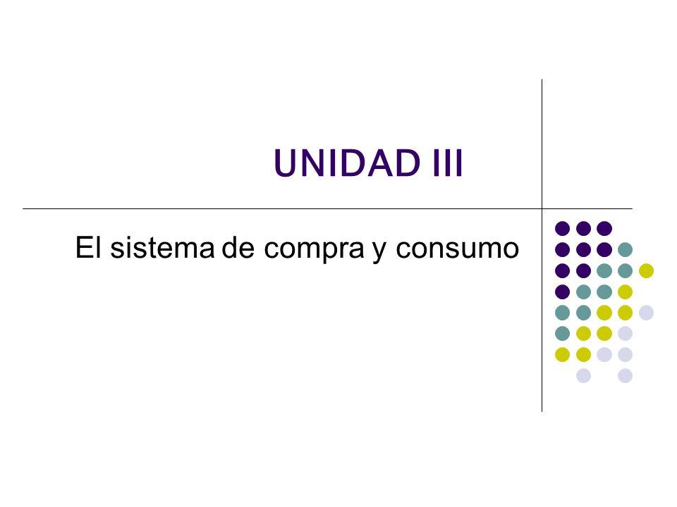 UNIDAD III El sistema de compra y consumo