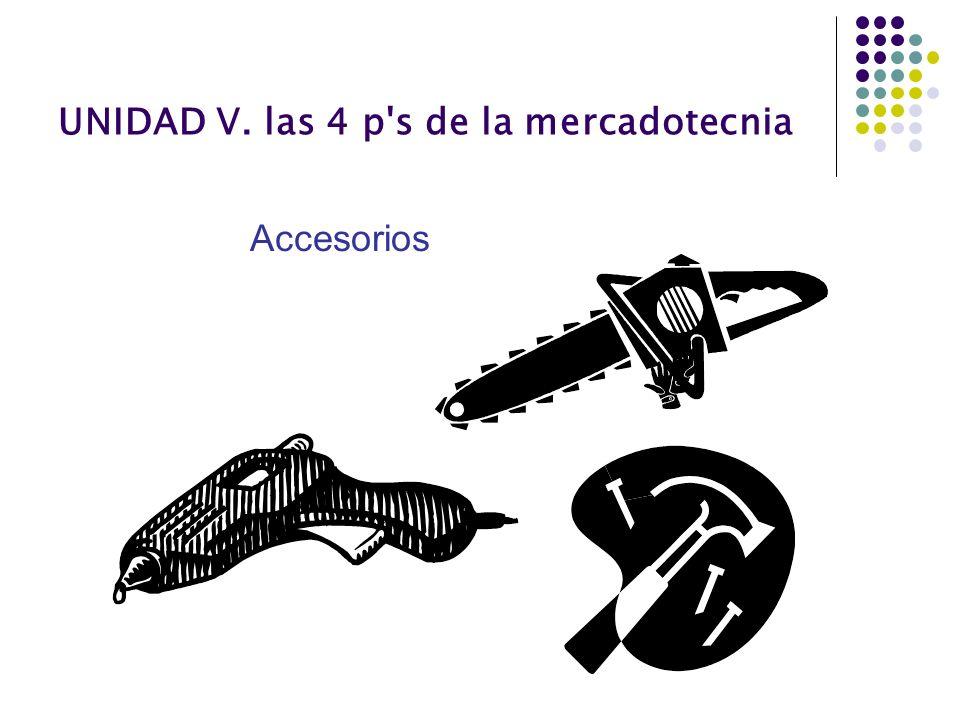 UNIDAD V. las 4 p's de la mercadotecnia Accesorios
