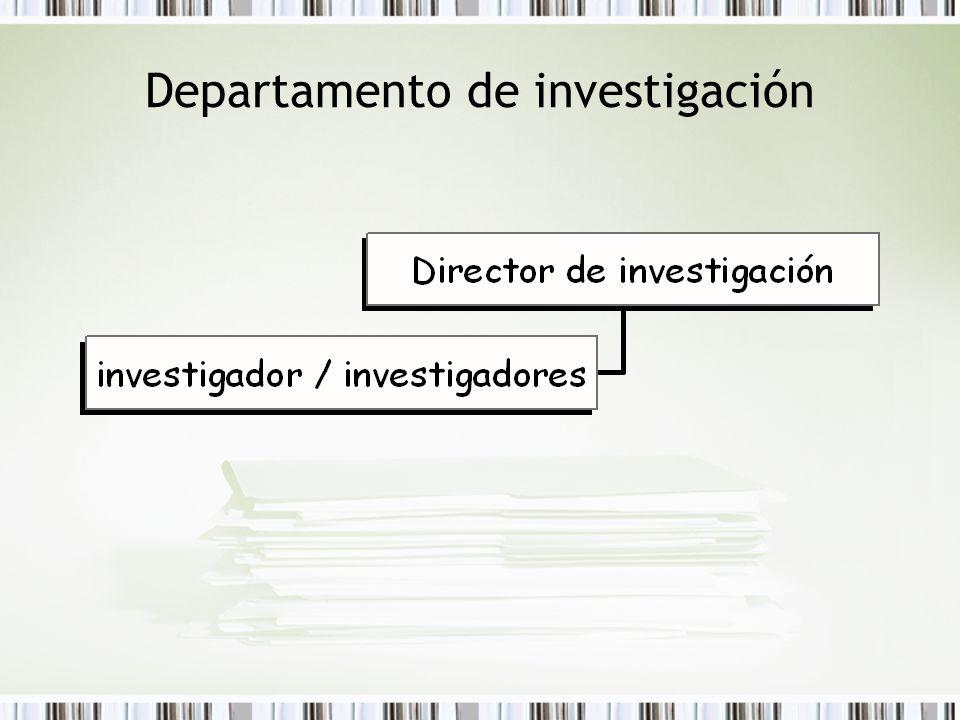 Departamento de investigación