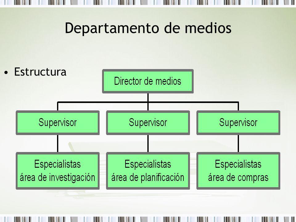 Departamento de medios Estructura