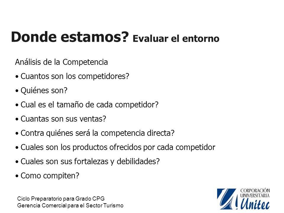 Ciclo Preparatorio para Grado CPG Gerencia Comercial para el Sector Turismo Oportunidades.