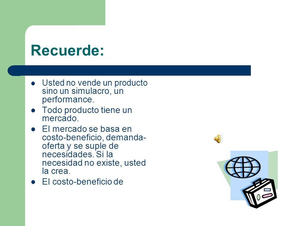 Recuerde: un producto lleva como génesis la inversión- ganancia, ésta es el resultado de mano de obra y materia prima al menor precio.