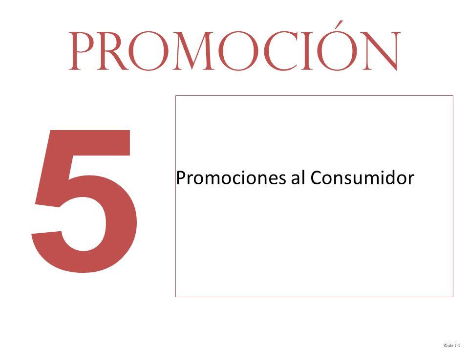 Slide 1-2 Promociones al Consumidor Promoción