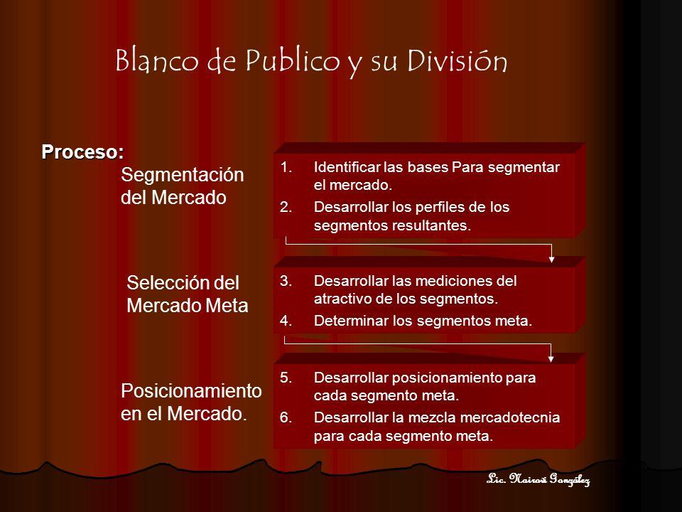 Publico Objetivo / Blanco de Publico Publico Objetivo / Blanco de Publico Target Group(en la mayoría de ocasiones se utiliza el término inglés) es un