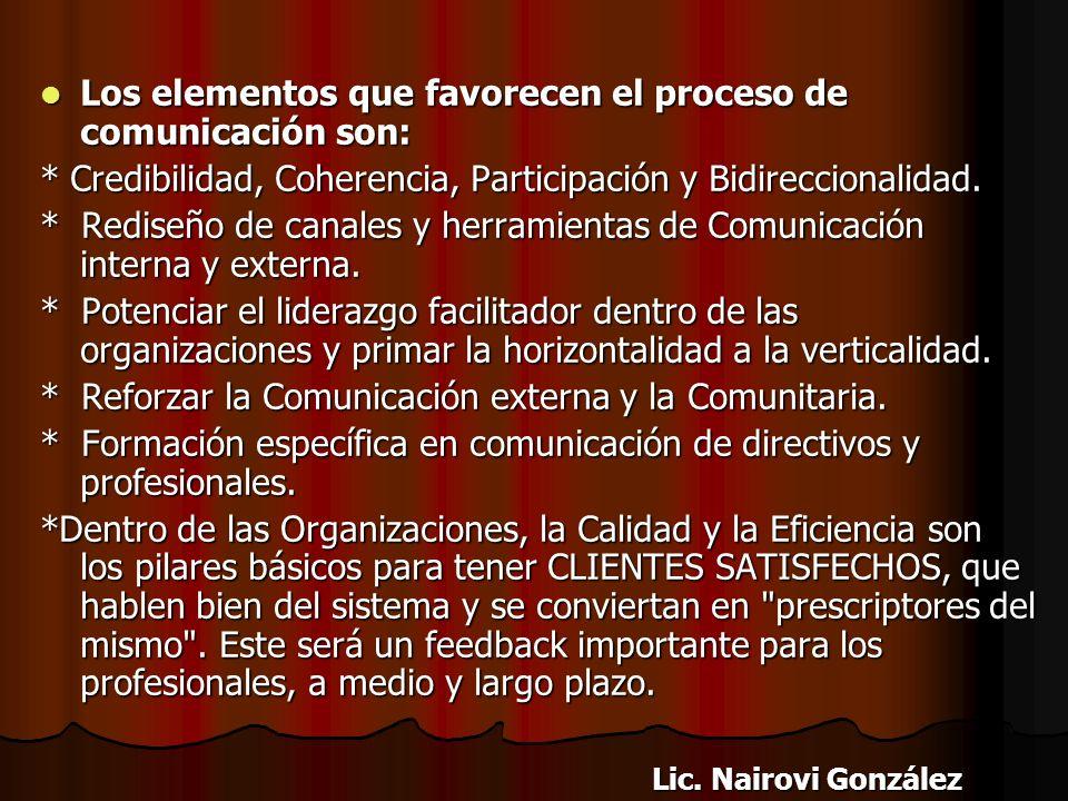 Este proceso de comunicación pone de manifiesto la necesidad de contar en la organización con un equipo humano especializado en esta área o, en su def