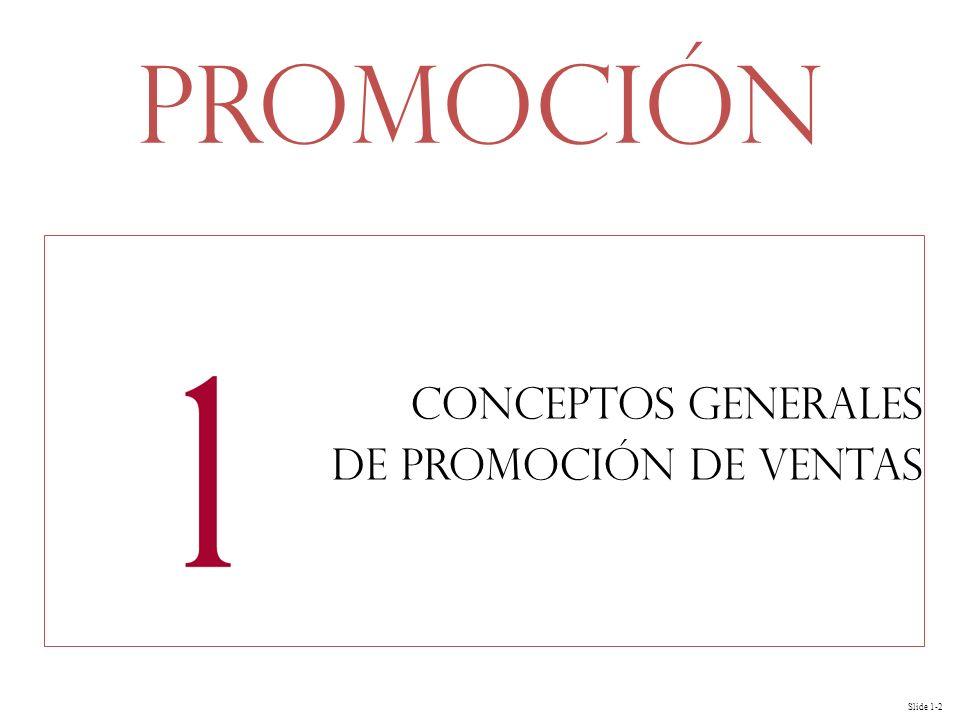 Slide 1-2 Conceptos generales de promoción de ventas Promoción