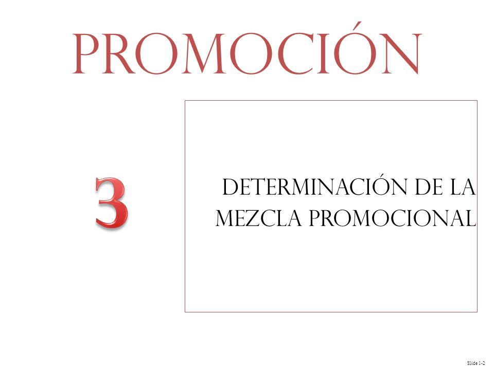 Slide 1-2 Determinación de la Mezcla Promocional Promoción