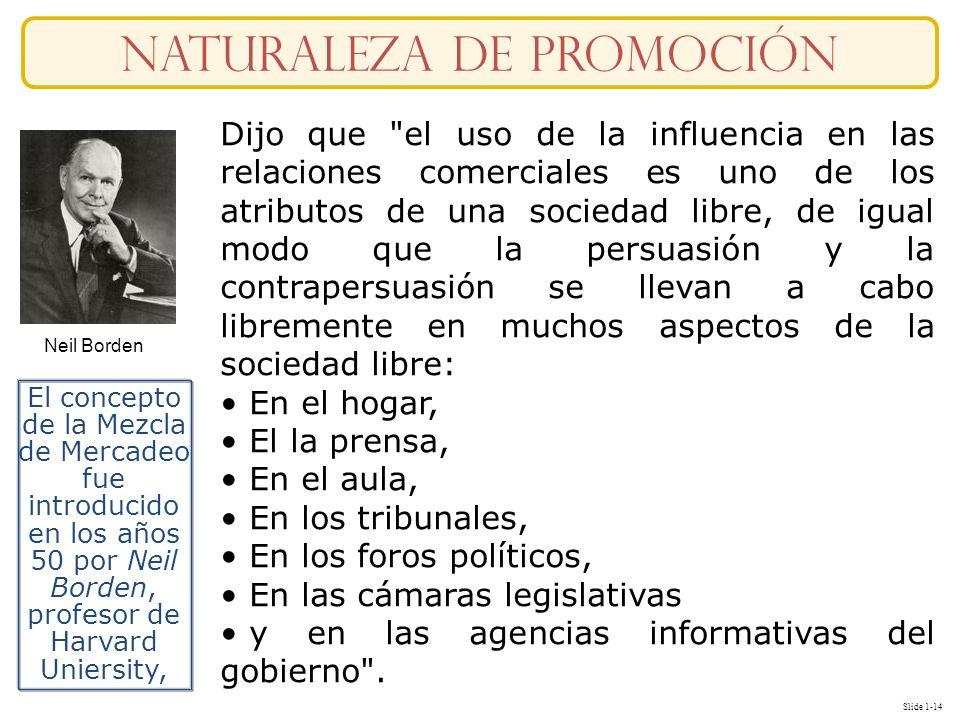 Slide 1-14 naturaleza DE Promoción Dijo que