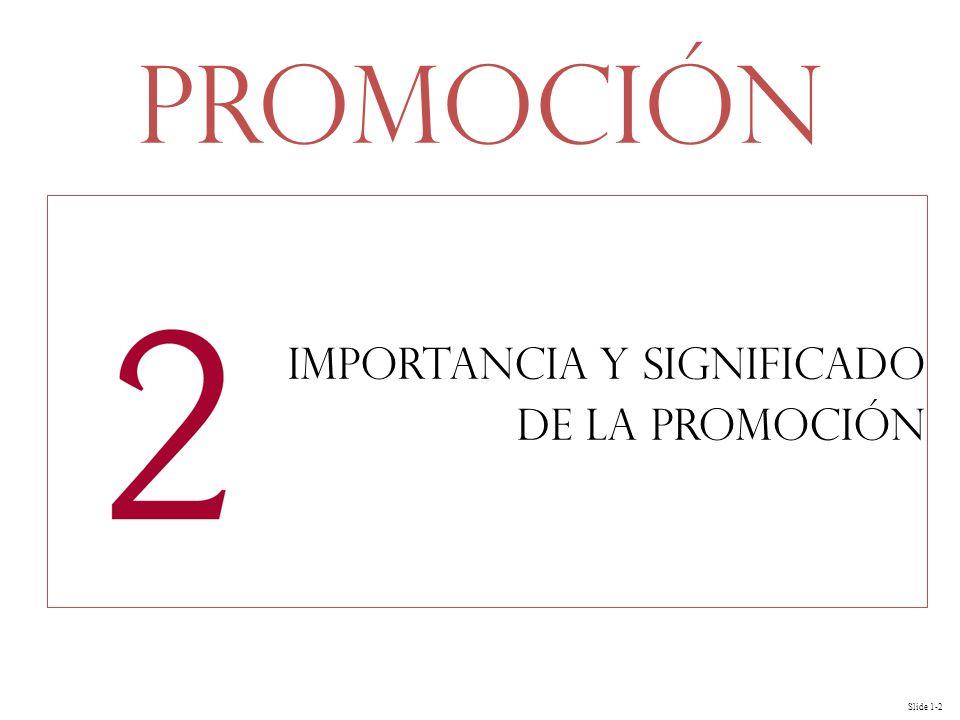 Slide 1-2 Importancia y significado de la Promoción Promoción