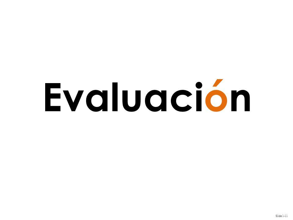 Slide 1-11 Evaluación