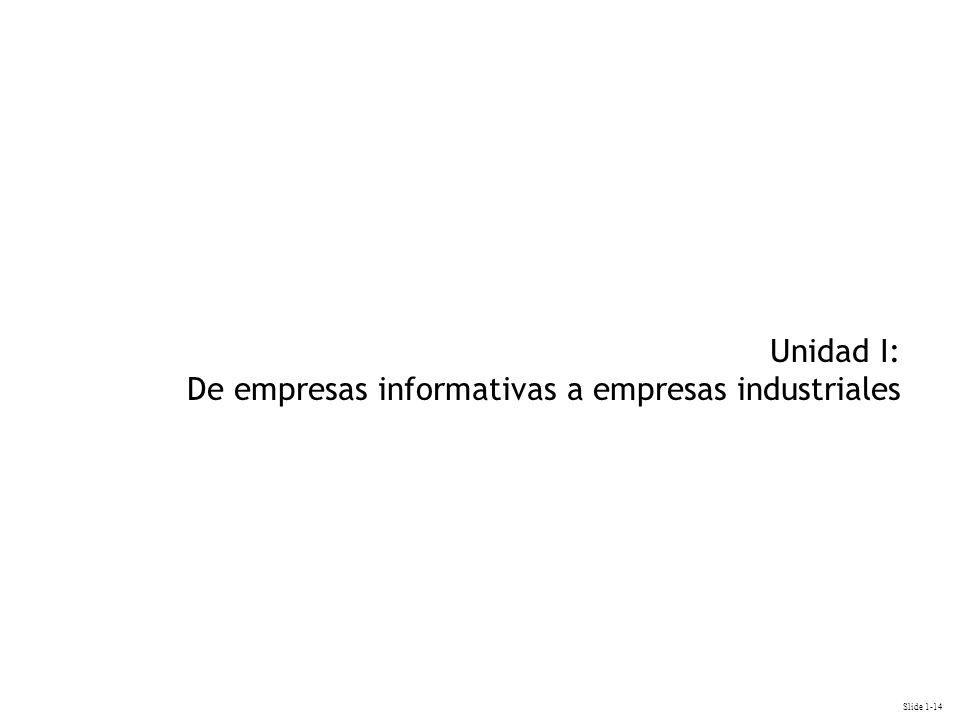 Slide 1-14 Unidad I: De empresas informativas a empresas industriales