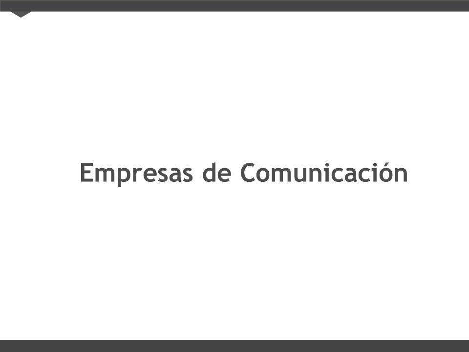 Empresas de Comunicación
