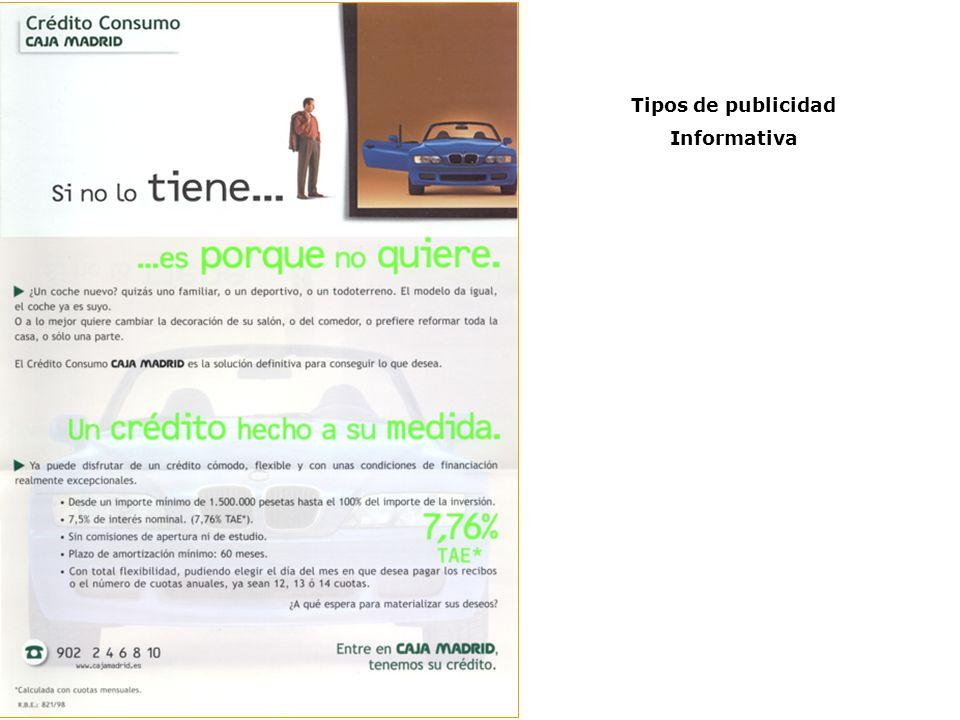Tipos de publicidad Informativa