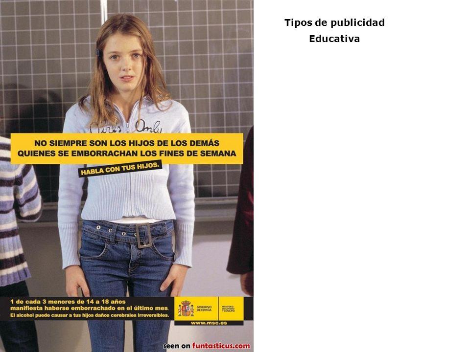 Tipos de publicidad Educativa