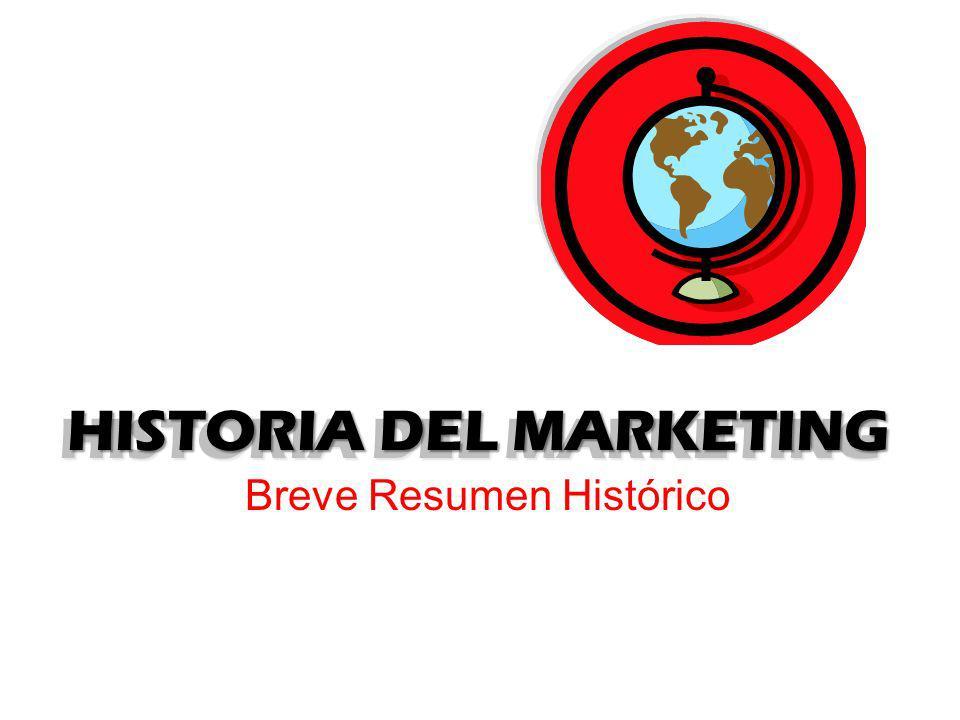 HISTORIA DEL MARKETING Breve Resumen Histórico