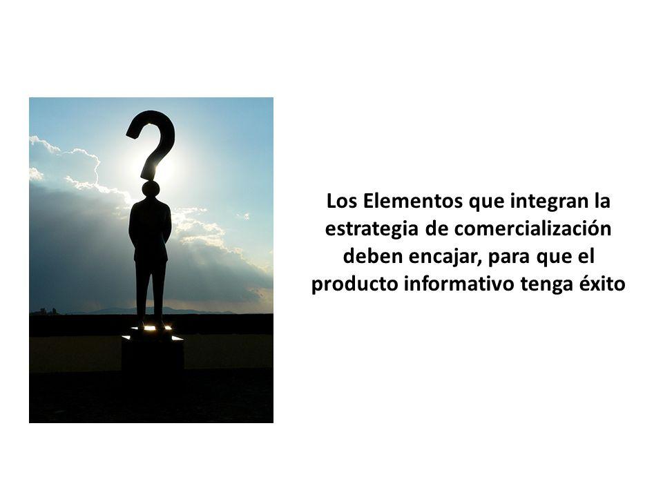 Los Elementos que integran la estrategia de comercialización deben encajar, para que el producto informativo tenga éxito