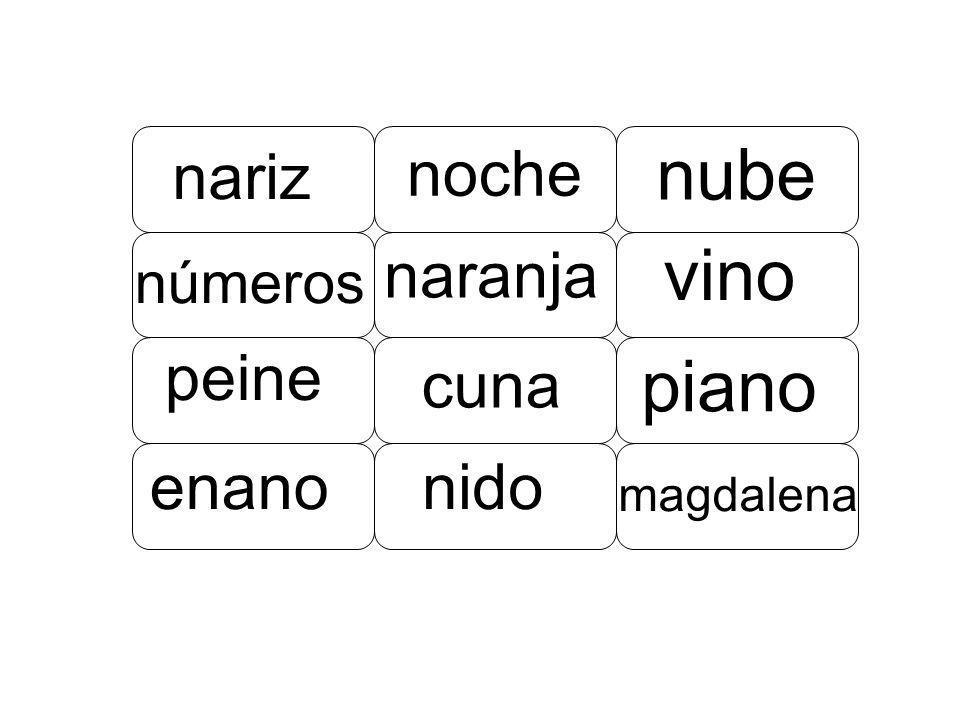 nariz naranja vino noche nube cuna piano números peine magdalena nidoenano