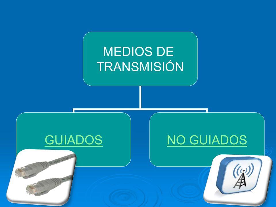 MEDIOS DE TRANSMISIÓN GUIADOSNO GUIADOS